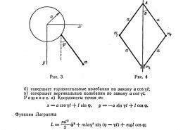 Как найти функцию лагранжа для плоского маятника?