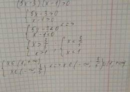 Как решить неравенство 5х2 — 8х + 3 > 0?
