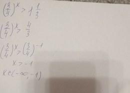 Как решить неравенство (3/4)^x > 1 1/3?