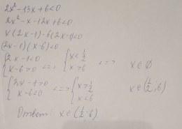 Как решить неравенство 2х^2 — 13х + 6 < 0?