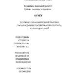 Отчет по ознакомительной практике по экономике и управлению