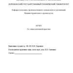 Отчет по ознакомительной практике по производственному менеджменту