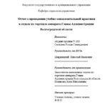 Отчет по ознакомительной практике по социологии