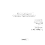 Отчет по ознакомительной практике по управлению персоналом