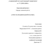 Отчет по преддипломной практике по социологии