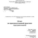 Отчет по преддипломной практике по жд транспорту