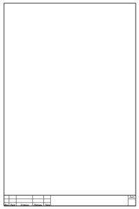 Рамка у A4 Word для прочих страниц курсовой работы