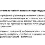 Заключение отчета по учебной практике по юриспруденции