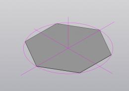 Выполните чертежи плоских фигур (треугольника, пятиугольника, шестиугольника) путем деления окружности радиусом = 25 мм на равные части. Фигуры расположите следующим образом: П1 – горизонтальная плоскость проекций – шестиугольник; П2 – фронтальная плоскость проекций – треугольник; П3 –профильная плоскость проекций – пятиугольник. 2 Выполните оси в изометрической проекции (угол между осями 120 градусов). 3 По соответствующим осям Х, У, Z постройте изометрию плоских фигур.